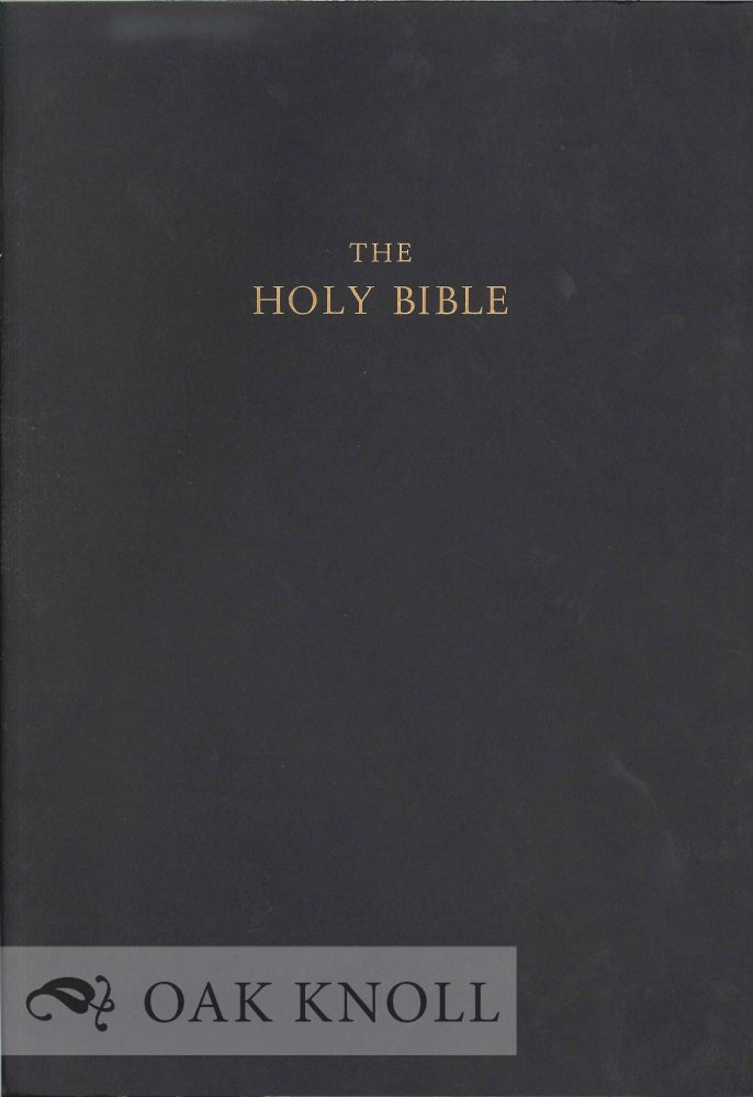 PROSPECTUS FOR A LECTURN EDITION OF THE HOLY BIBLE IN THE NEW REVISED STANDARD VERSION.