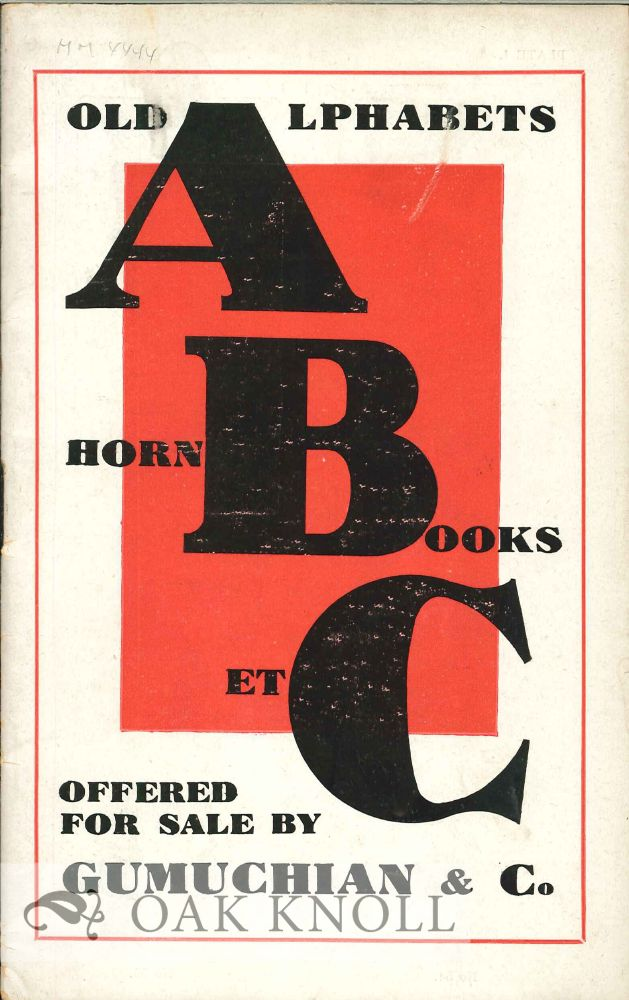 EARLY ALPHABETS HORN BOOKS AND AMUSING CHILDREN'S BOOKS.