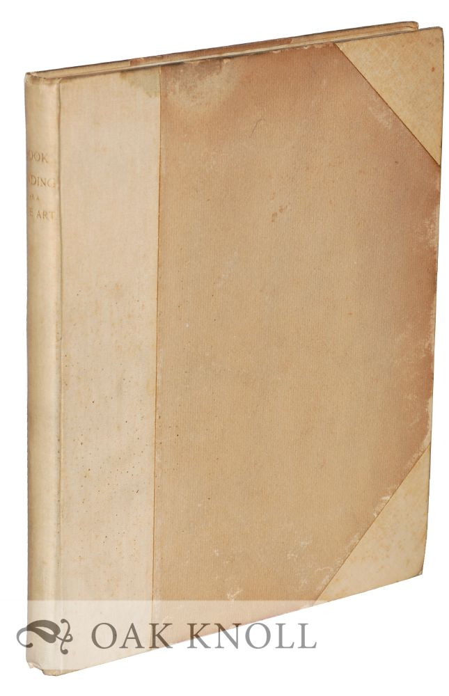 A LECTURE ON BOOKBINDING AS A FINE ART. Robert Hoe.