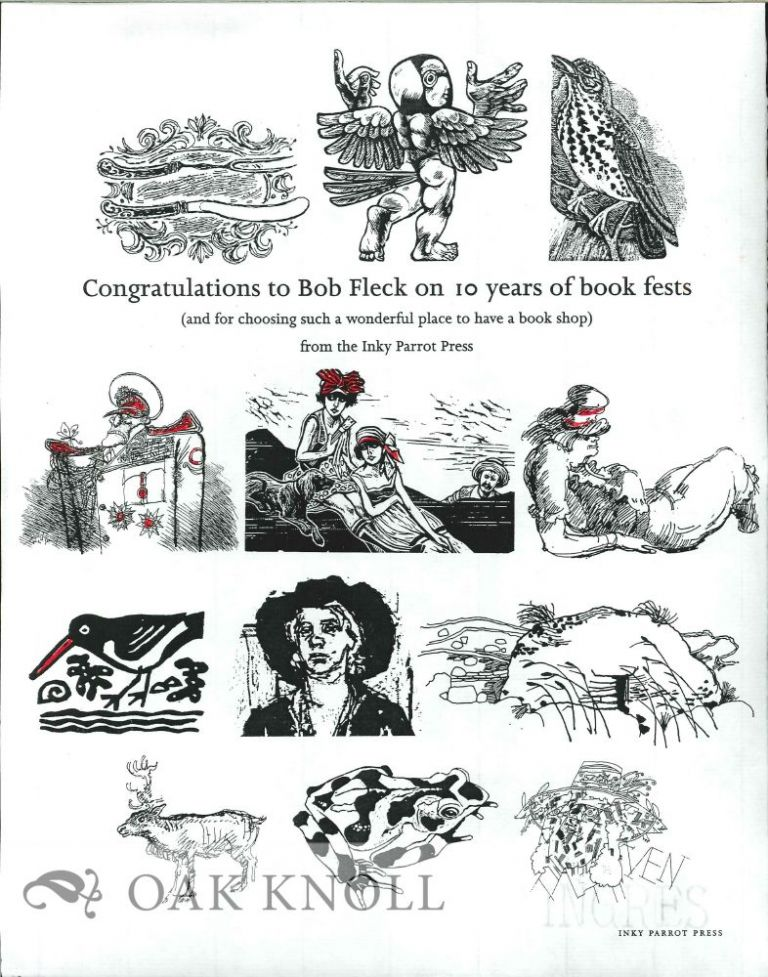 CONGRATULATIONS TO BOB FLECK ON 10 YEARS OF BOOK FESTS.