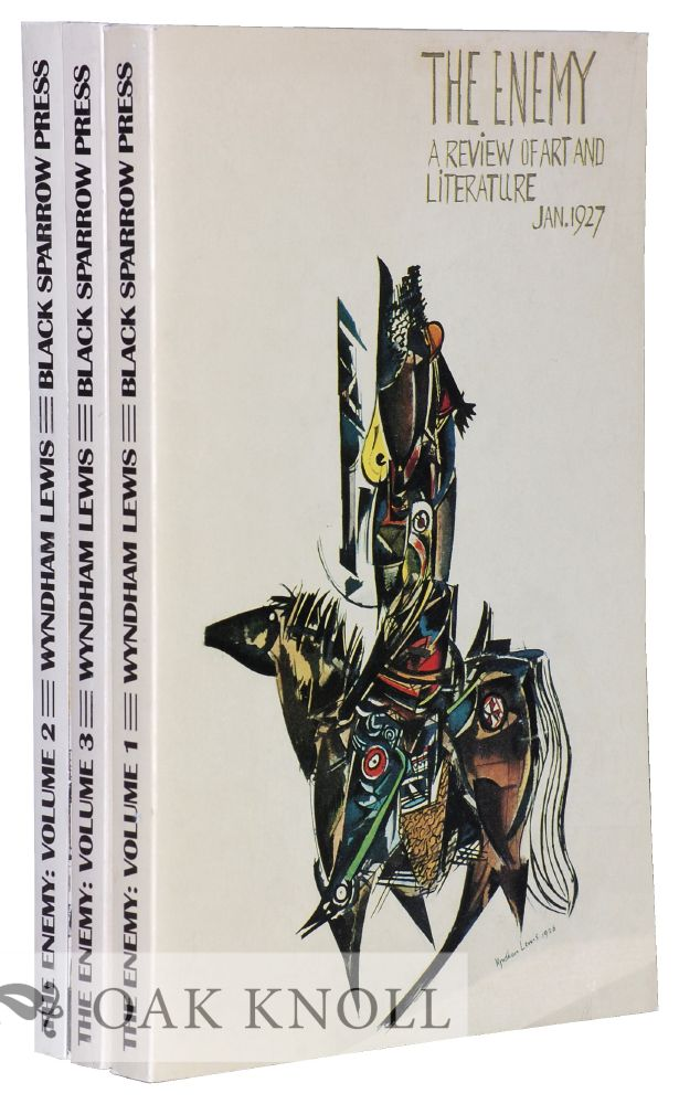 THE ENEMY: A REVIEW OF ART AND LITERATURE. Wyndham Lewis.