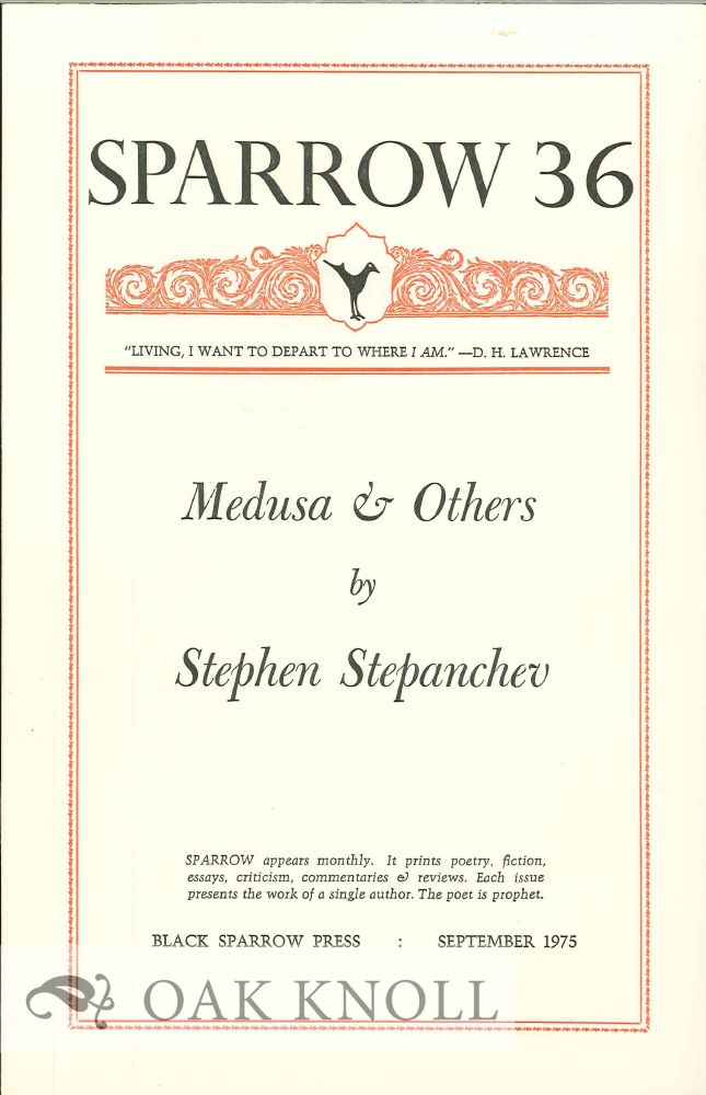 MEDUSA & OTHERS. SPARROW 36. Stephen Stepanchev.