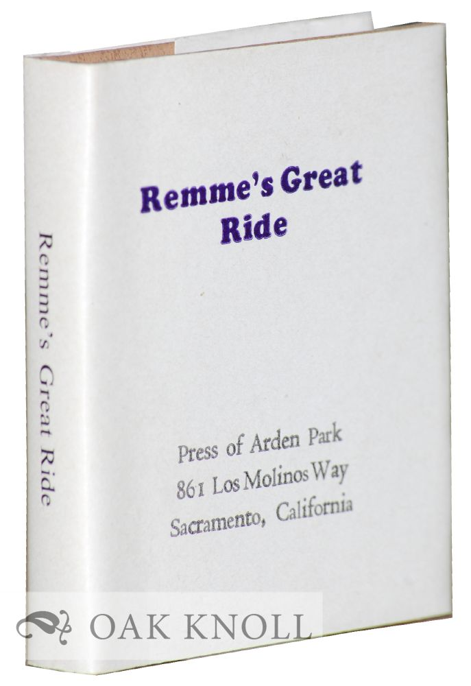 REMME'S GREAT RIDE.