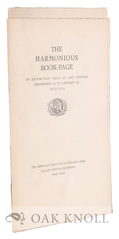 THE HARMONIOUS BOOK-PAGE and THE DECLINE OF THE HARMONIOUS PAGE.