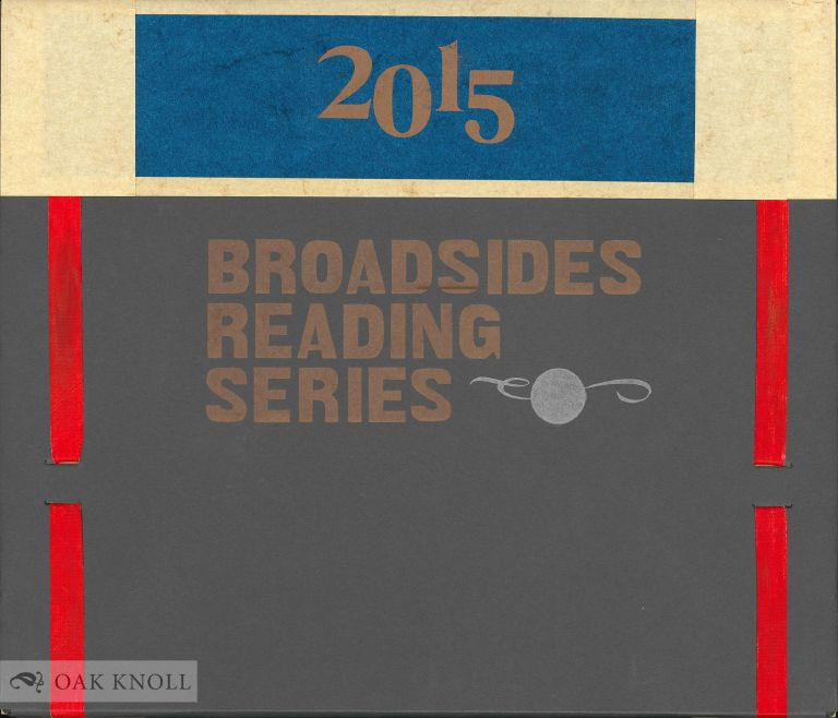 CENTER BROADSIDES 2015 READING SERIES.