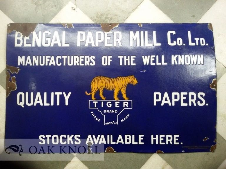 Bengal Paper Mill Co., Ltd., Sign.