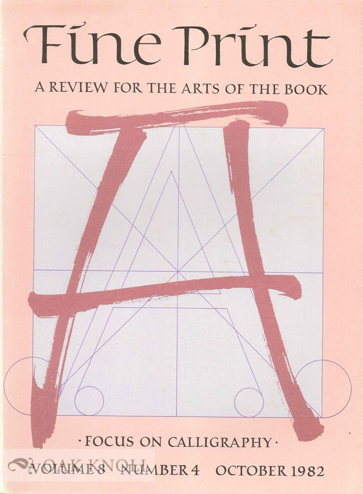 FINE PRINT: A REVIEW FOR THE ARTS OF THE BOOK.
