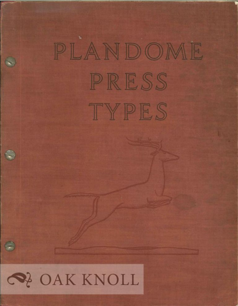 PLANDOME PRESS TYPES. Plandome.