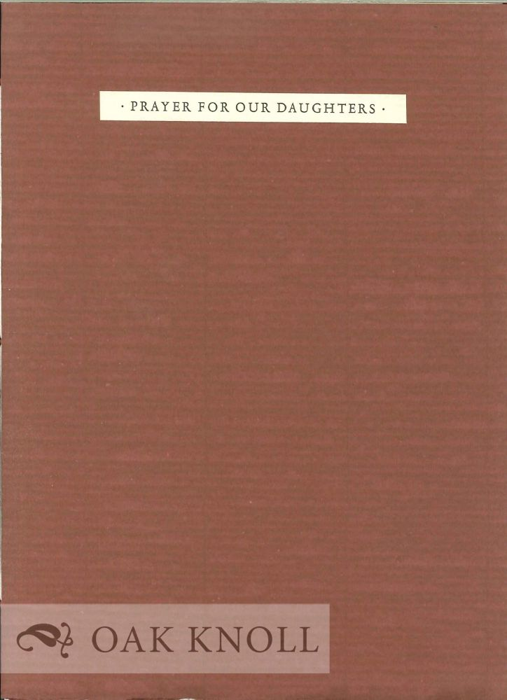 PRAYER FOR OUR DAUGHTERS. Mark Jarman.