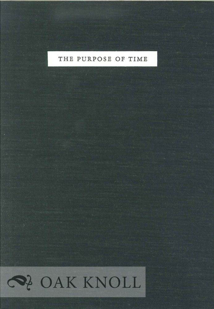 THE PURPOSE OF TIME. X. J. Kennedy.