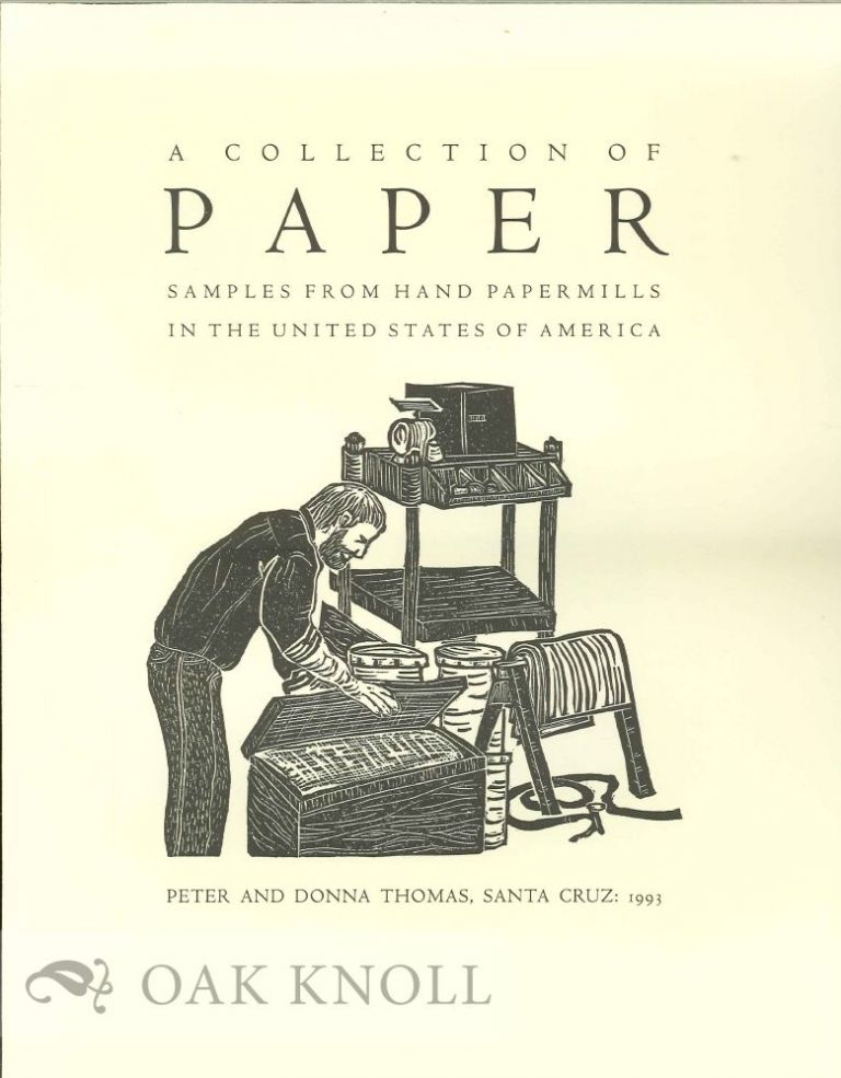 Prospectus for A COLLECTION OF PAPER SAMPLES FROM HAND PAPERMILLS IN THE UNITED STATES OF AMERICA.