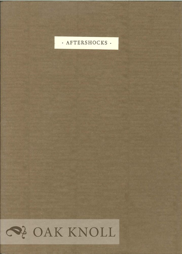 AFTERSHOCKS. A. E. Stallings.