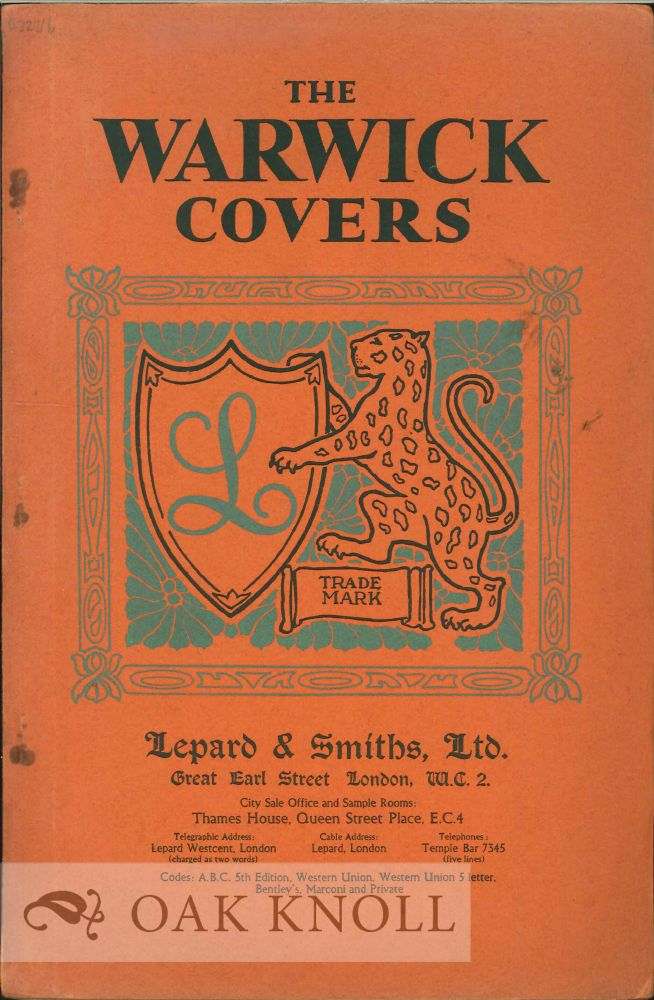 THE WARWICK COVERS. Lepard, Smiths.