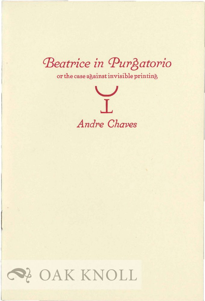 BEATRICE IN PURGATORIO. Andre Chaves.