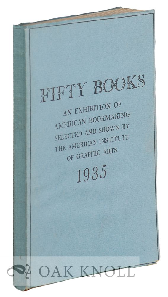 CATALOGUE OF THE FIFTY BOOKS OF THE YEAR FOR 1935.