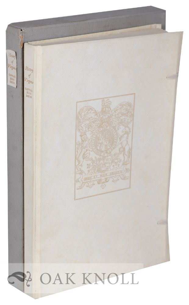 THE GENERALL HISTORIE OF VIRGINIA, NEW-ENGLAND AND THE SUMMER ISLES. John Smith.