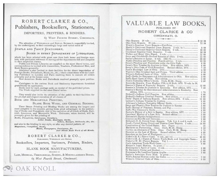VALUABLE LAW BOOKS.