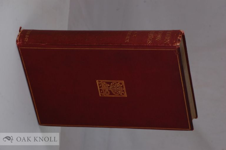 MODERN BOOKBINDINGS:THEIR DESIGN AND DECORATION. S. T. Prideaux.