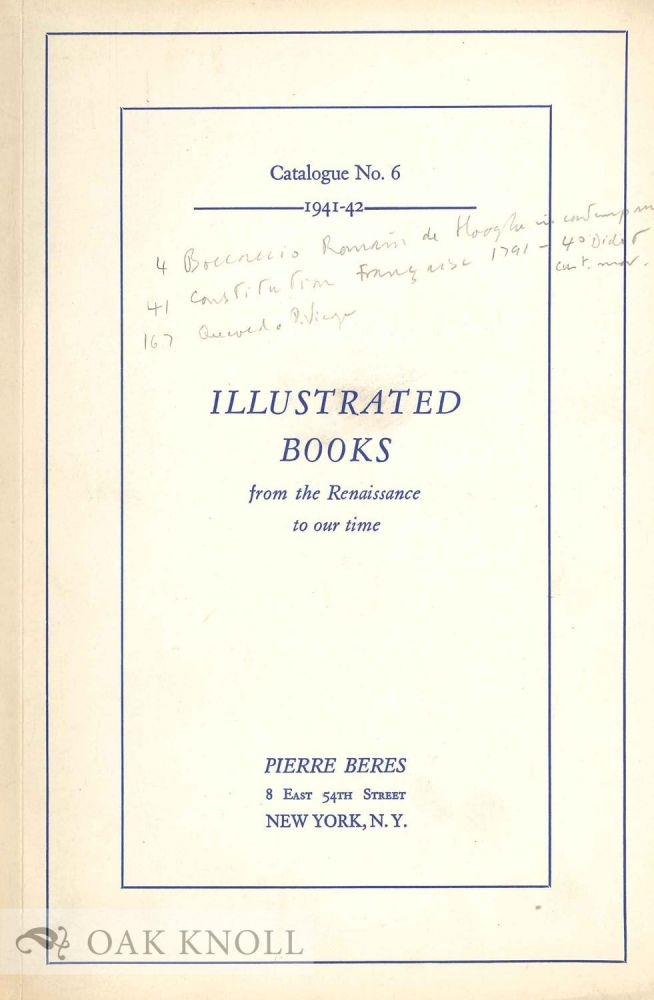 ILLUSTRATED BOOKS FROM THE 16TH TO THE 20TH CENTURY.