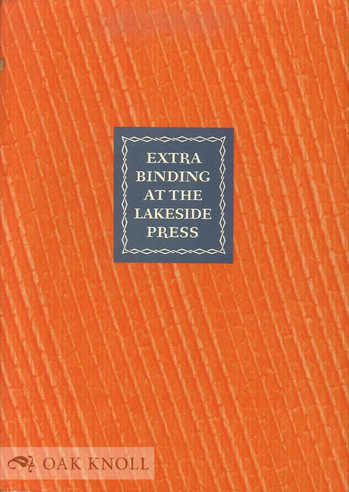 EXTRA BINDING FOR RARE AND VALUABLE BOOKS AND PAPERS.