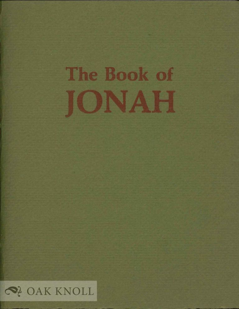 THE BOOK OF JONAH.