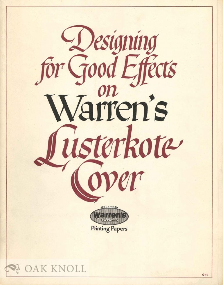 DESIGNING FOR GOOD EFFECTS ON WARREN'S LUSTERKOTE COVER.