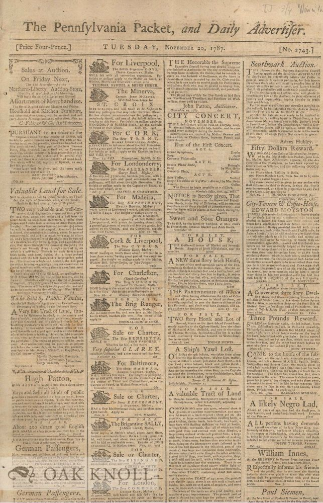 THE PENNSYLVANIA PACKET, AND DAILY ADVERTISER.