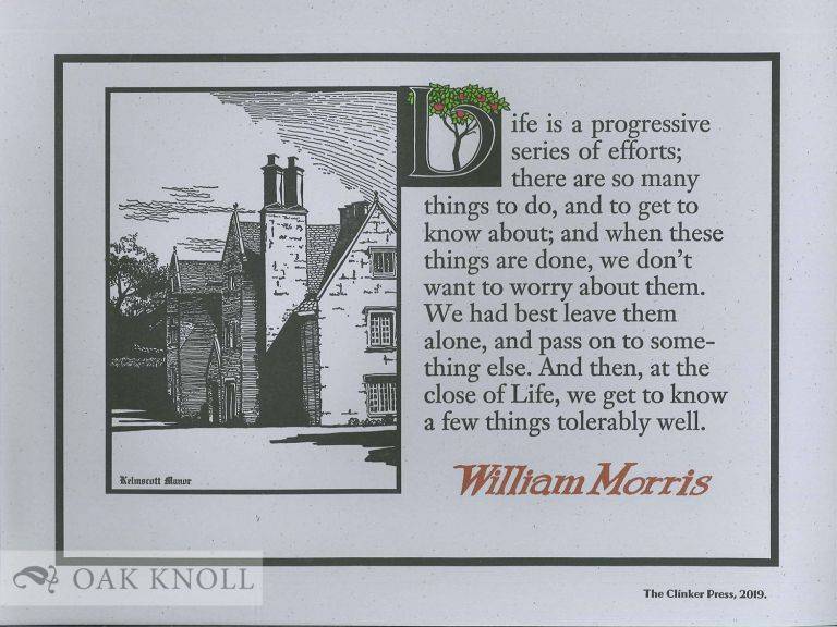LIFE IS A PROGRESSIVE SERIES OF EFFORTS. William Morris.