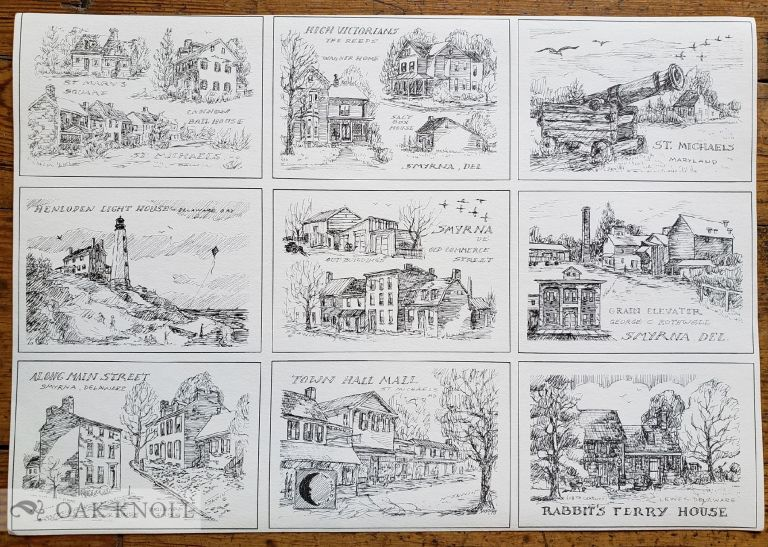 Uncut folio featuring nine postcards. Nancy Sawin.