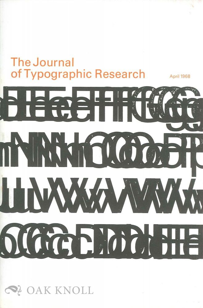 THE JOURNAL OF TYPOGRAPHIC RESEARCH.