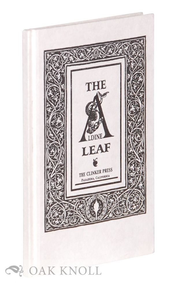 THE ALDINE LEAF. Andre Chaves.