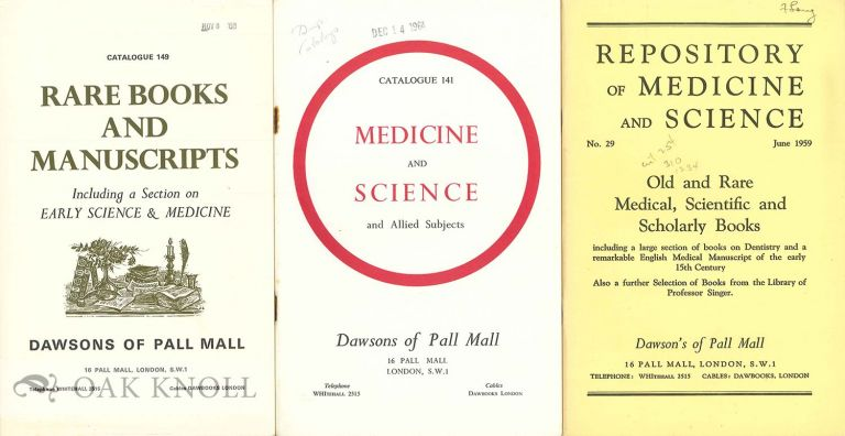 Eight catalogues issued by Dawson's of Pall Mall.