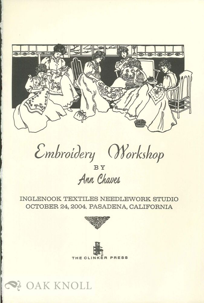 EMBROIDERY WORKSHOP.
