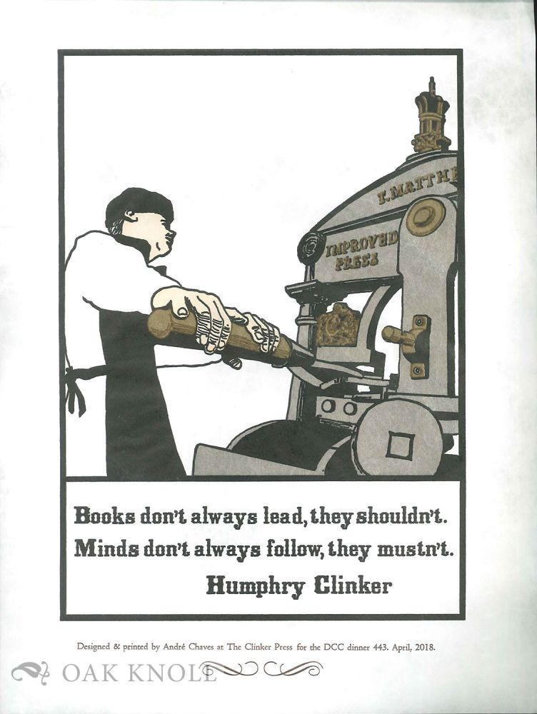 BOOKS DON'T ALWAYS LEAD. Humphry Clinker.