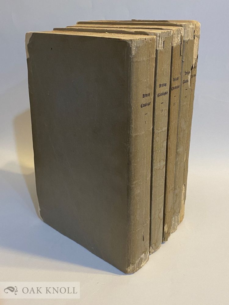CATALOGUE OF THE AMERICAN LIBRARY OF THE LATE MR. GEORGE BRINLEY OF HARTFORD, CONN. George . Fletcher Brinley, William, collector, compiler.