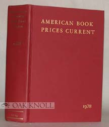 AMERICAN BOOK-PRICES CURRENT. 1975-1979