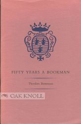 FIFTY YEARS A BOOKMAN
