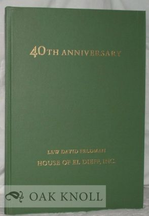 FORTIETH ANNIVERSARY CATALOGUE CONTAINING FORTY SELECTIONS FROM STOCK