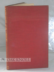CATALOGUE OF THE LIBRARY OF THE NATIONAL BOOK COUNCIL A COLLECTION OF BOOKS, PAMPHLETS AND...