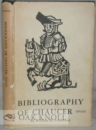 BIBLIOGRAPHY OF CHAUCER 1954-1963