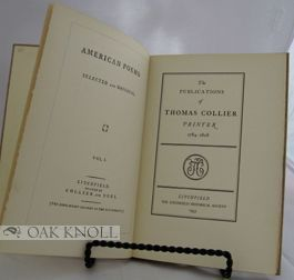 THE PUBLICATIONS OF THOMAS COLLIER, PRINTER, 1758-1808.