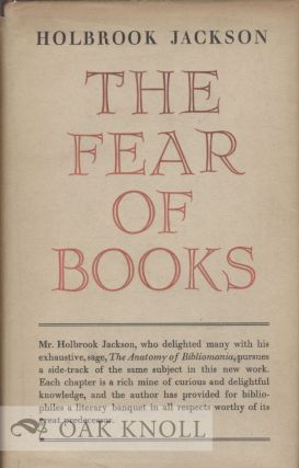 THE FEAR OF BOOKS