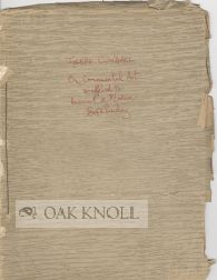 "ON ORNAMENTAL ART AS APPLIED TO ANCIENT AND MODERN BOOKBINDING ."" Joseph Cundall"