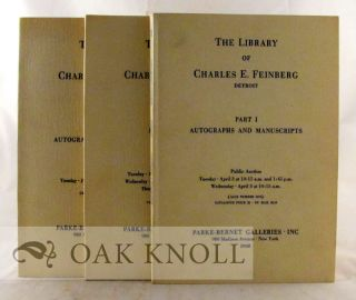 THE LIBRARY OF CHARLES E. FEINBERG