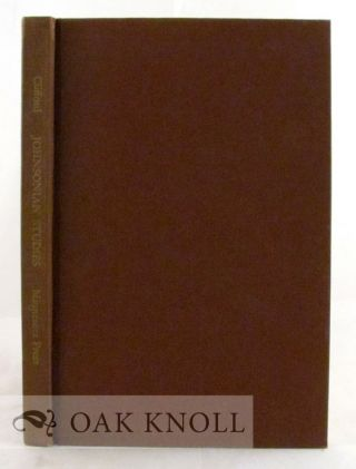 JOHNSONIAN STUDIES 1887-1950, A SURVEY AND BIBLIOGRAPHY. James L. Clifford