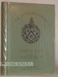 CATALOGUE OF THE LYTTELTON PAPERS, THE PROPERTY OF THE VISCOUNT COBHAM