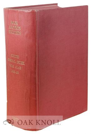 BOOK-AUCTION RECORDS. EIGHTH GENERAL INDEX TO BOOK-AUCTION RECORDS FOR THE YEARS 1963-1968 (VOLUMES 61-65).