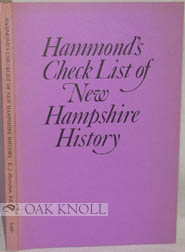 HAMMOND'S CHECK LIST OF NEW HAMPSHIRE HISTORY