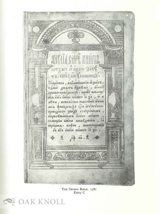 THE KILGOUR COLLECTION OF RUSSIAN LITERATURE, 1750-1920 WITH NOTES ON EARLY BOOKS AND MANUSCRIPTS OF THE 16TH AND 17TH CENTURIES.