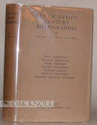 SEVEN XVIIITH CENTURY BIBLIOGRAPHIES. Iolo A. Williams